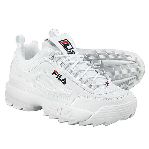 Fila Men's White Disruptor II Shoes