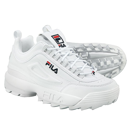 Fila Men's White Disruptor II Shoes