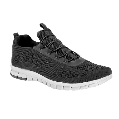No-Sox Men's Black Slip-On Hybrid Sneakers