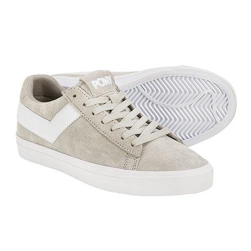 Pony Women's Grey & White Classic Sneakers