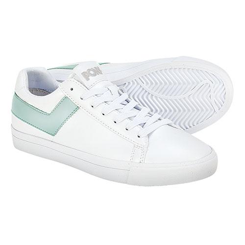 Pony Women's White & Mint Classic Sneakers