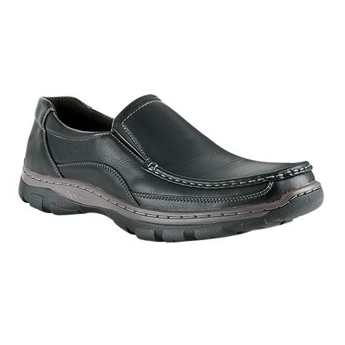Maximus Men's Black Slip-On Shoes