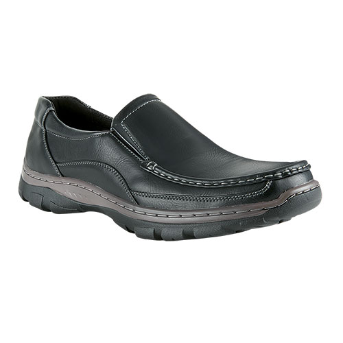 Maximus Men's Black Slip-On Shoes