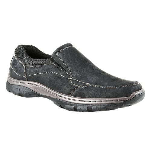 Maximus Black Nubuck Men's Slip-On Shoes