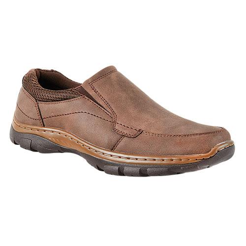 Maximus Brown NuBuck Men's Slip-On Shoes
