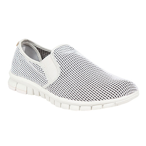 Deer Stags NoSoX Mesh Men's White Slip-Ons