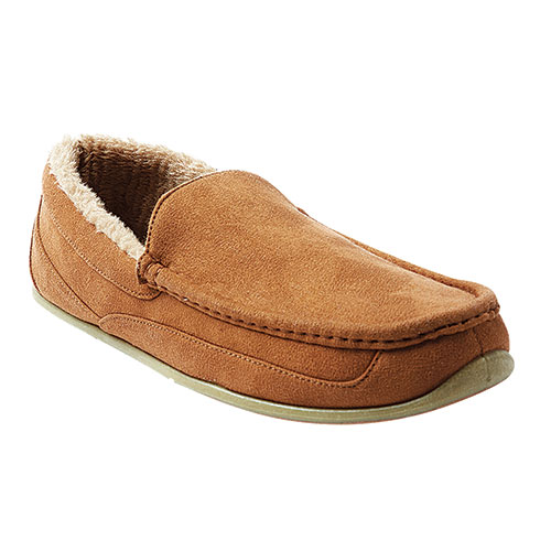 Deer Stags Men's Chestnut Spun Slippers