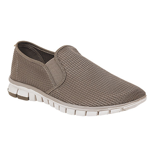 Deer Stags NoSoX Mesh Men's Taupe Slip-Ons