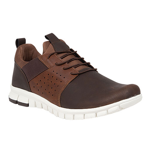 Deer Stags NoSoX Men's Brown Hybrid Slip-Ons