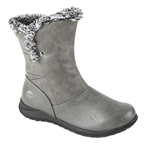 Totes Lara Women's Grey Waterproof Boots