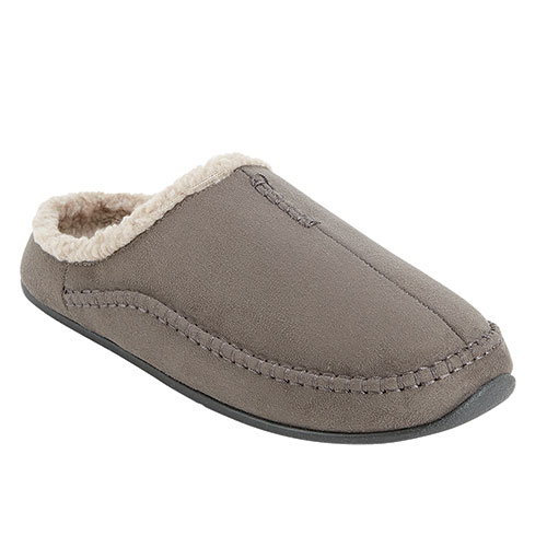 Deer Stags Men's Charcoal Nordic Slippers