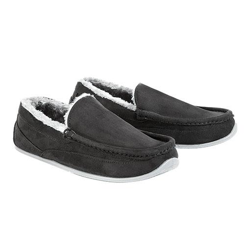 Deer Stags Black Spun Men's Slippers