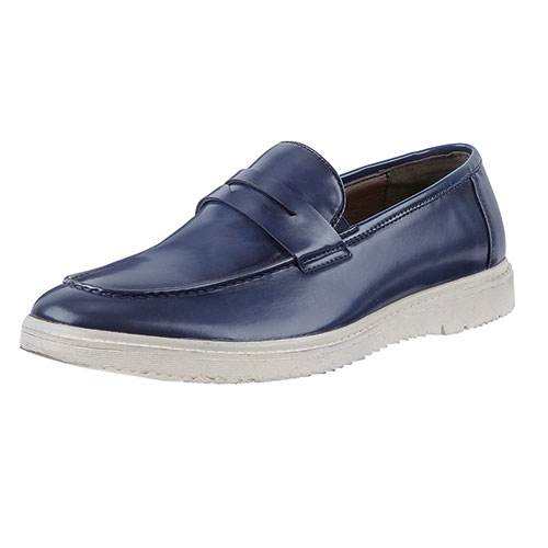 Roma Rio Men's Navy Slip-On Shoes