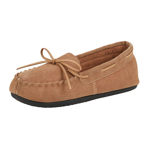 Women's Suede Leather Beige Moccasins