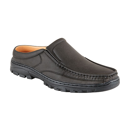 Pleasure Island Black Casual Slide-In Men's Shoes