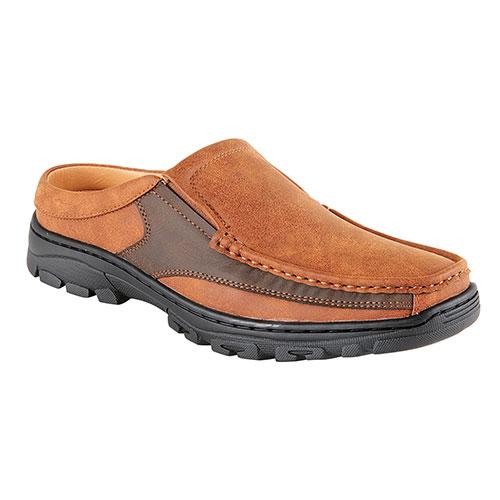 Pleasure Island Brown Casual Slide-In Men's Shoes