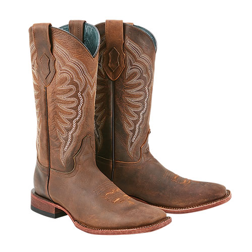 Ferrini Vaquero Cowhide Western Boots - Brown