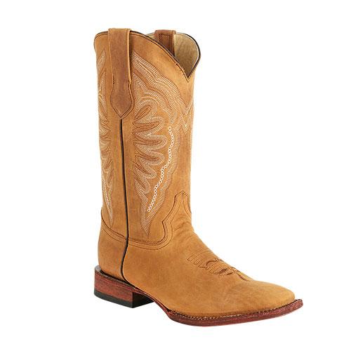 Ferrini Vaquero Cowhide Western Boots - Camel