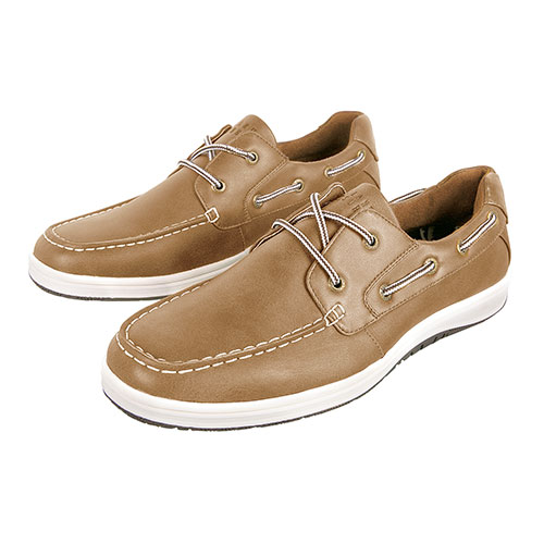 Island Surf Barbados Men's Tan Casual Boat Shoes