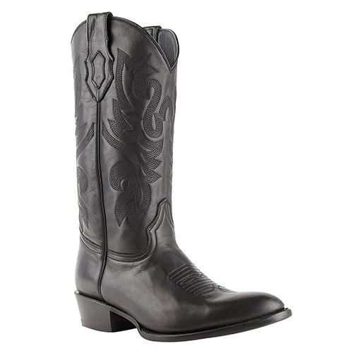 Ferrini Jackson Black Round-Toe Cowhide Boots