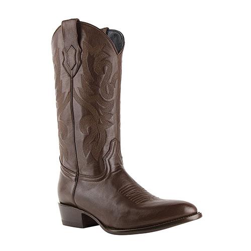 Ferrini Jackson Chocolate Round-Toe Cowhide Boots