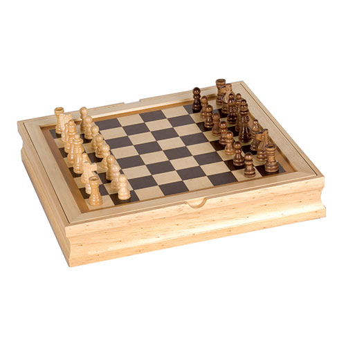 6-in-1 Wooden Game Center