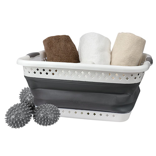 Home Basics Laundry Basket Kit
