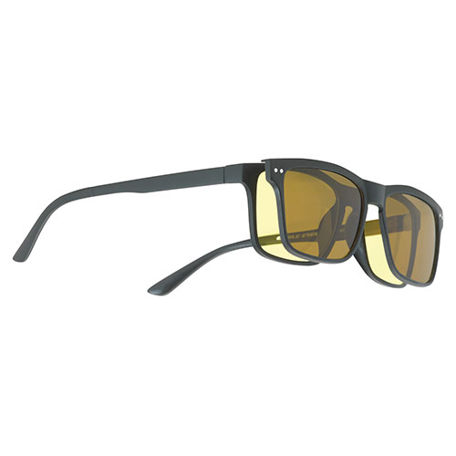 Eagle Eyes 2-In-1 Classic Frame Sunglasses with Clip-On