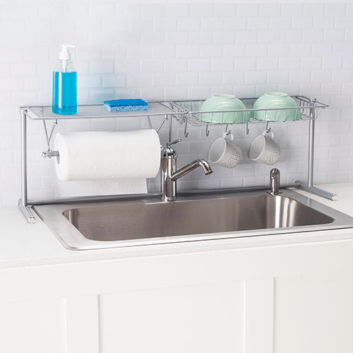 Home Basics Metal Over-The-Sink Rack