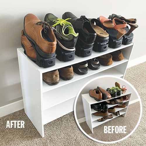 Home Basics Shoe Space Saver - 6 Pack