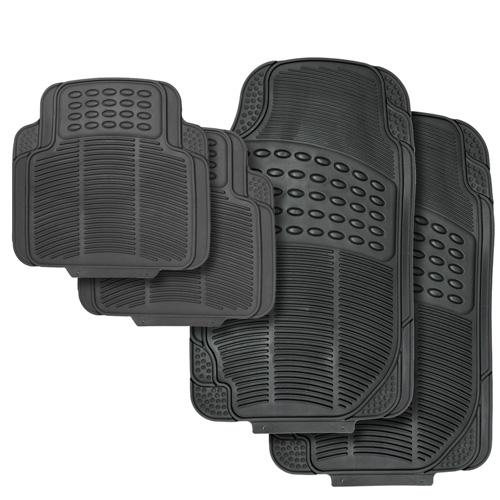 OxGord Black Vehicle Floor Mats - 4 Piece