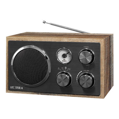Victrola Wooden Desktop Radio with Bluetooth