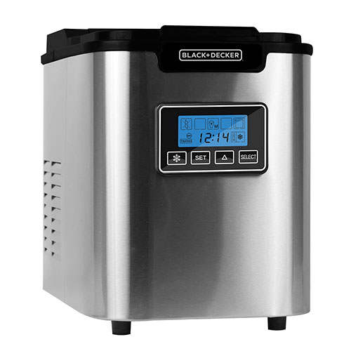 Black & Decker 26-lb. Capacity Stainless Steel Ice Maker