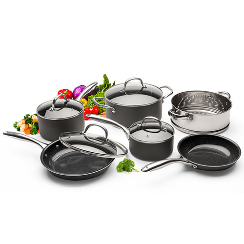 Diamotech 10 Piece Ceramic Cookware Set