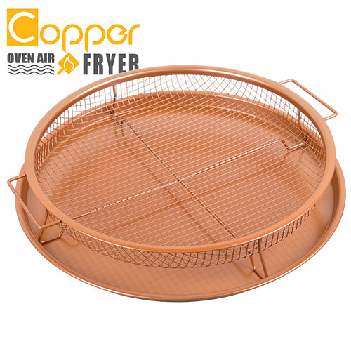 Round Copper Oven Air Fryer Pan