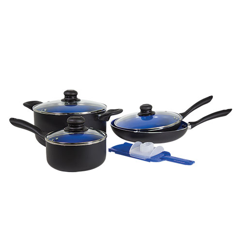 Yoshi Blue 8 Piece Ceramic Cookware Set