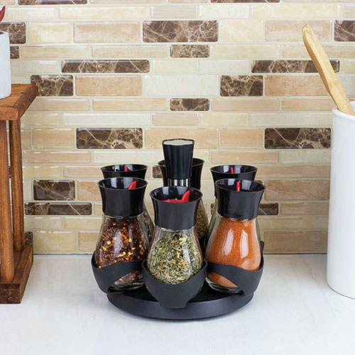 Home Basics 6-Jar Spice Rack