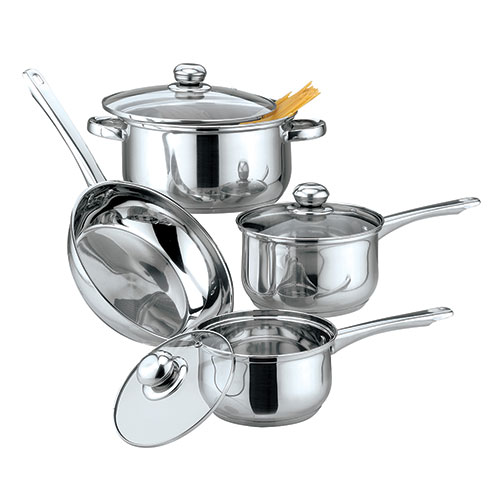 Gourmet Edge 7 Piece Stainless Steel Cookware Set