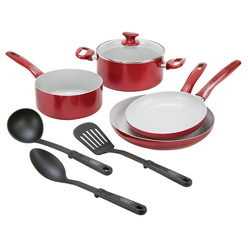 Food-E 8 Piece Cookware and Utensil Set