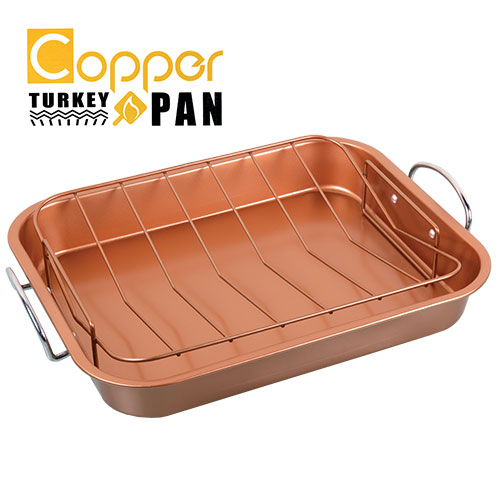 Copper Non-Stick Roasting Pan