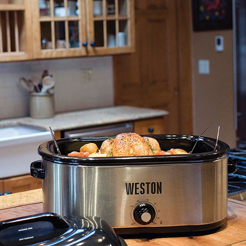 Weston 22-Quart Stainless Steel Roaster Oven