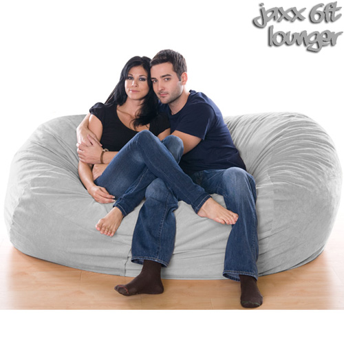 6FT VELVISH BEANBAG-GRAY