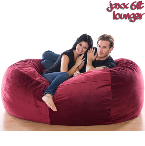 6FT VELVISH BEANBAG-Merlot