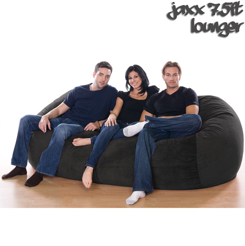 7.5FT VELISH BEANBAG-Black