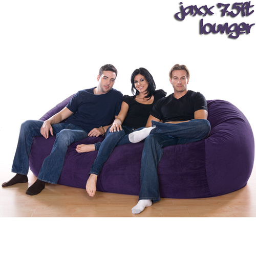 7.5FT VELISH BEANBAG-AUBRN
