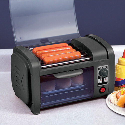 Coney Island Countertop Hot Dog Roller
