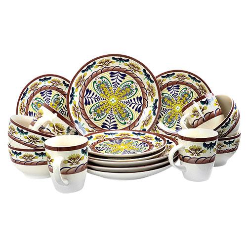 Elama Country Sunrise 16 Piece Stoneware Set