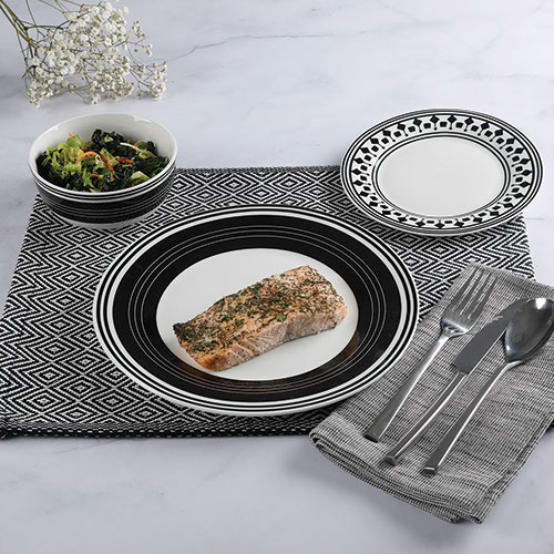 Gibson Home 12 Piece Melody Dinnerware Set