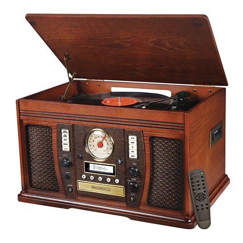 IT Aviator 7-In-1 Wooden Music Center