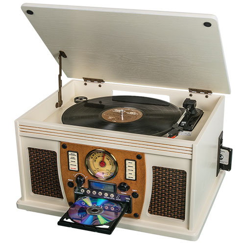 Innovative Technology ITVS-760B Antique Nostalgia 8-in-1 Bluetooth System